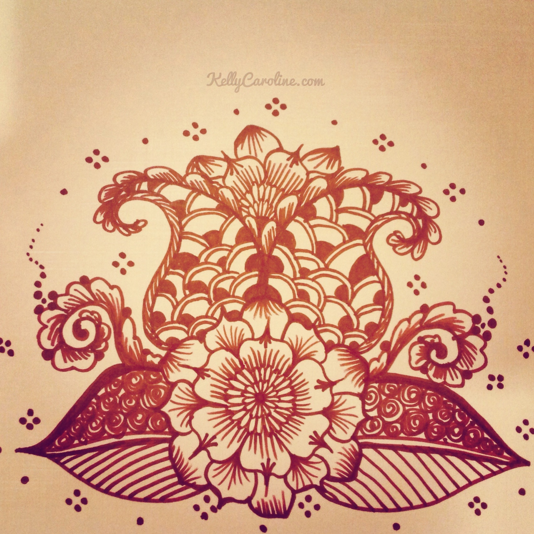 Henna Design Drawing at GetDrawings.com | Free for personal use ...