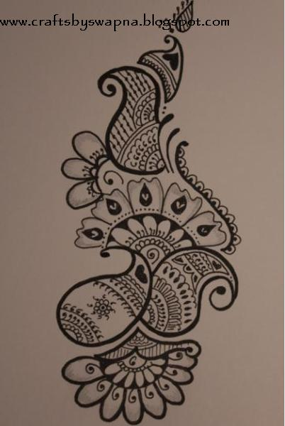 Simple Flower Henna Designs On Paper Under Fontanacountryinn Com