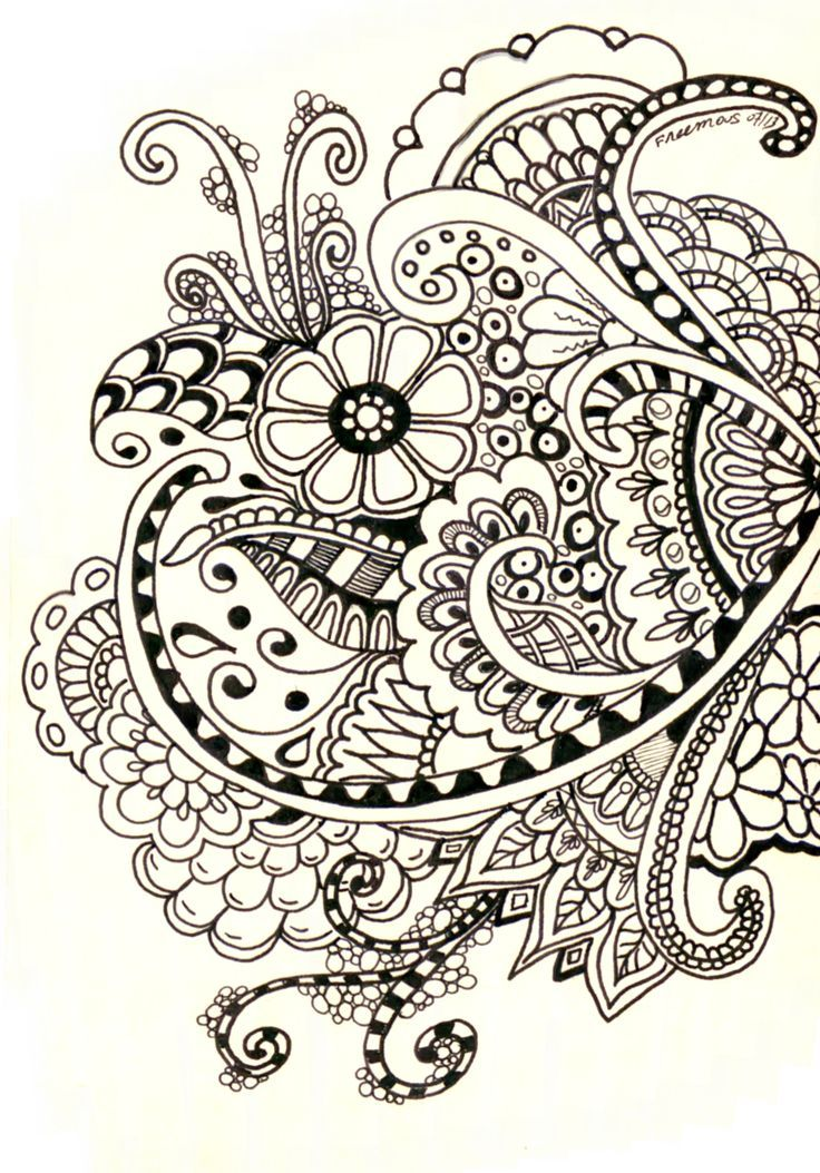 Henna Flower Patterns On Paper