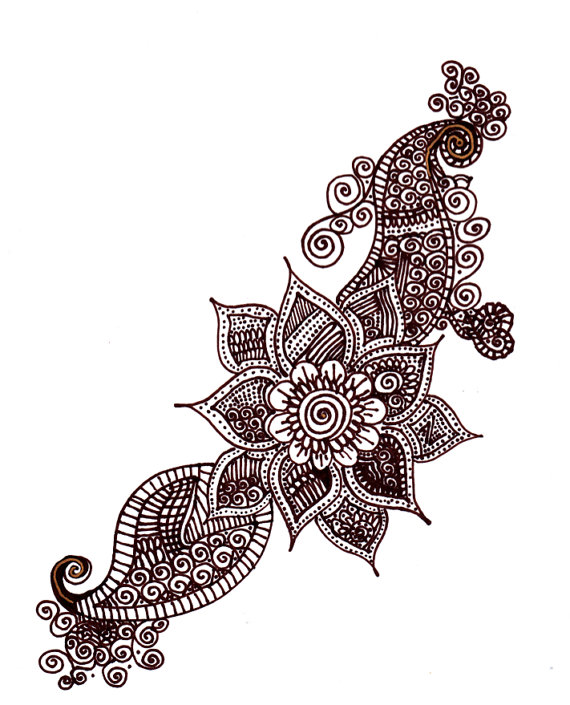 henna designs drawing at getdrawingscom free for
