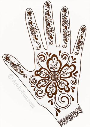 300x420 Henna Hand Designs Art Lesson Make A Unique Self Portrait Art