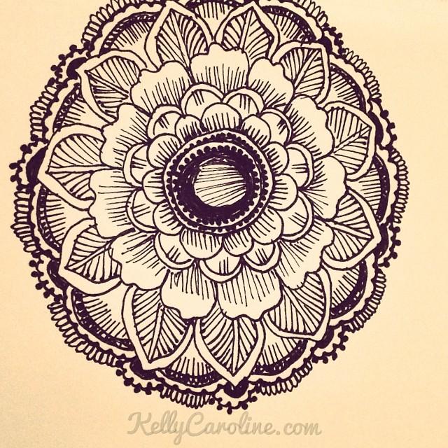 640x640 Henna Tattoo Design Of A Mandala Drawing By Kelly Caroline
