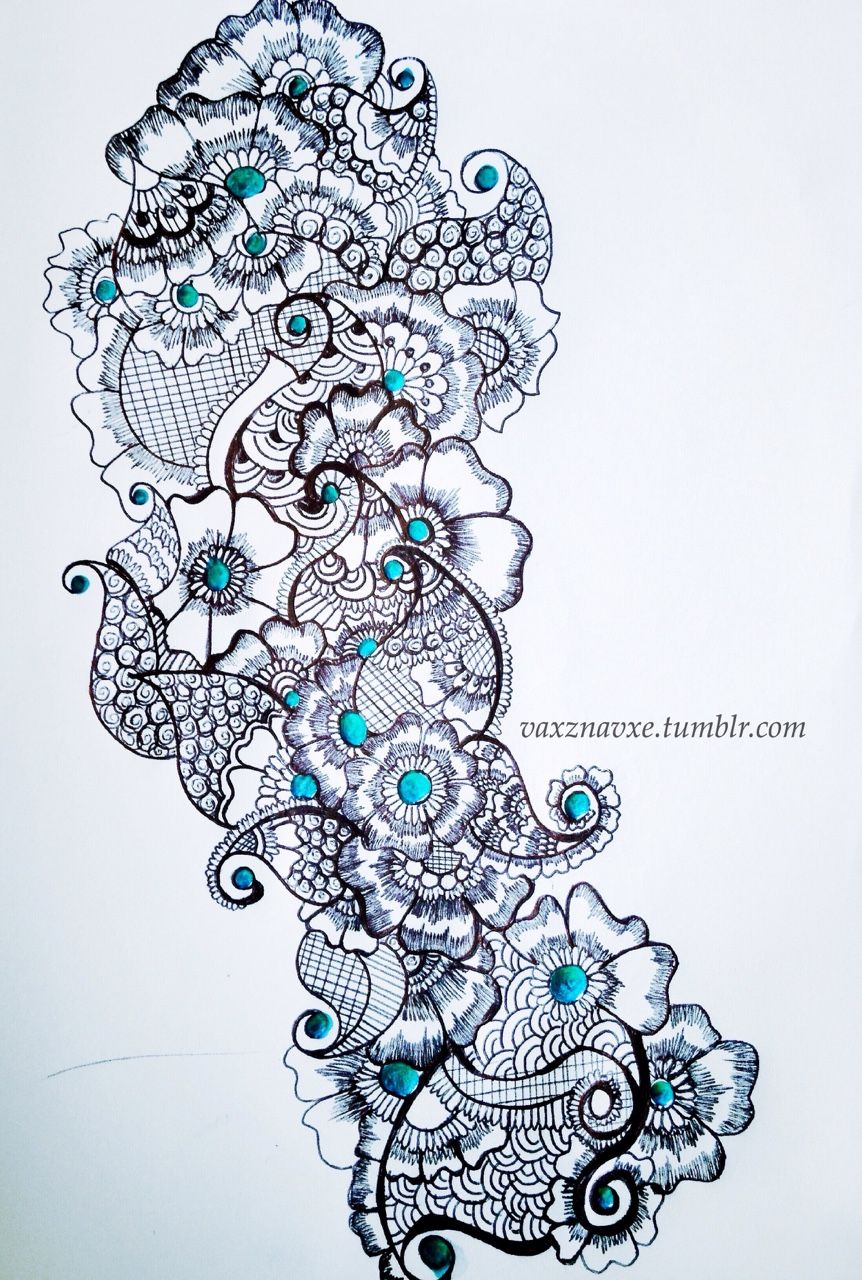862x1280 How To Draw Henna Tattoos
