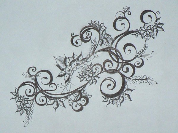 600x449 Larger Henna Drawing By Beffychan