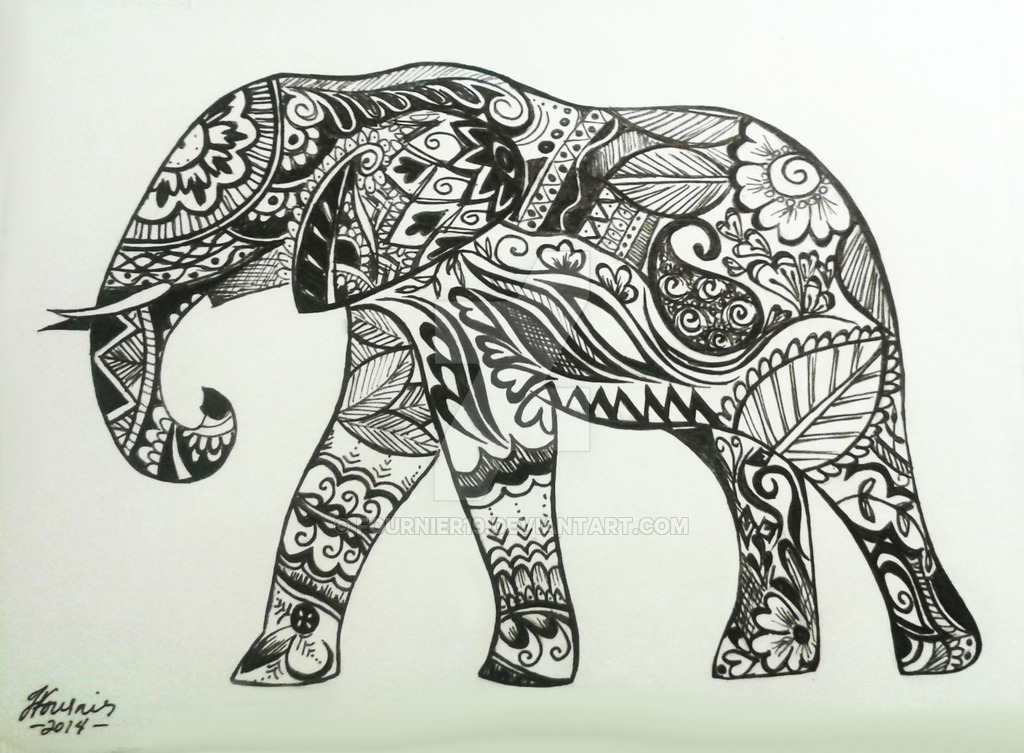 1024x753 Elephant Henna Design By Fournier19