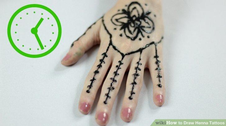 728x409 3 Ways To Draw Henna Tattoos