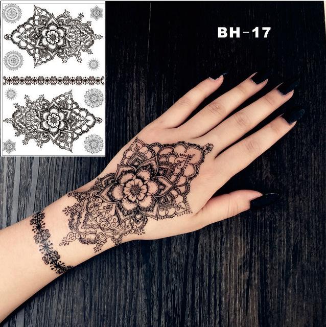 638x640 Bh 17 Hand Drawing Mandala Black Henna Temporary Tattoo Inspired
