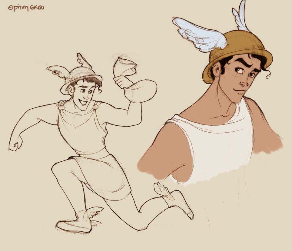 964x829 Hermes Doodles By Ninidu