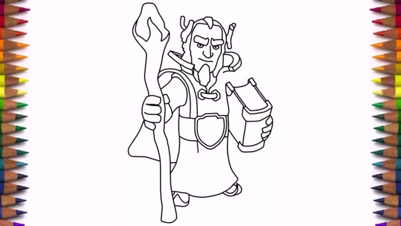1280x720 Clash Of Clans Drawings How To Draw Clash Of Clans Characters