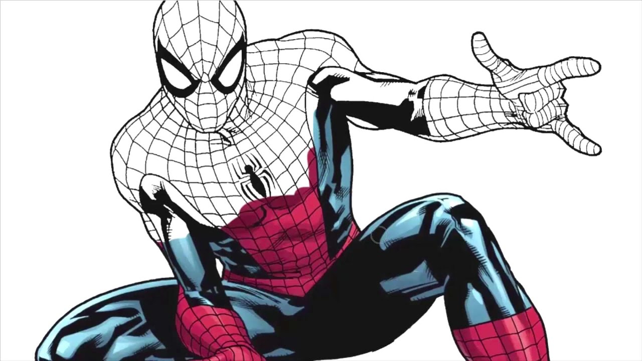 1280x720 How To Draw Hero Spiderman! Drawing And Coloring Spiderman!