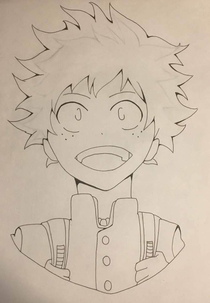 709x1024 My Hero Academia Deku Drawing Process Anime Amino