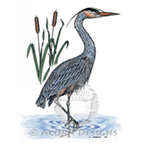 500x500 Blue Heron Pocket Journal