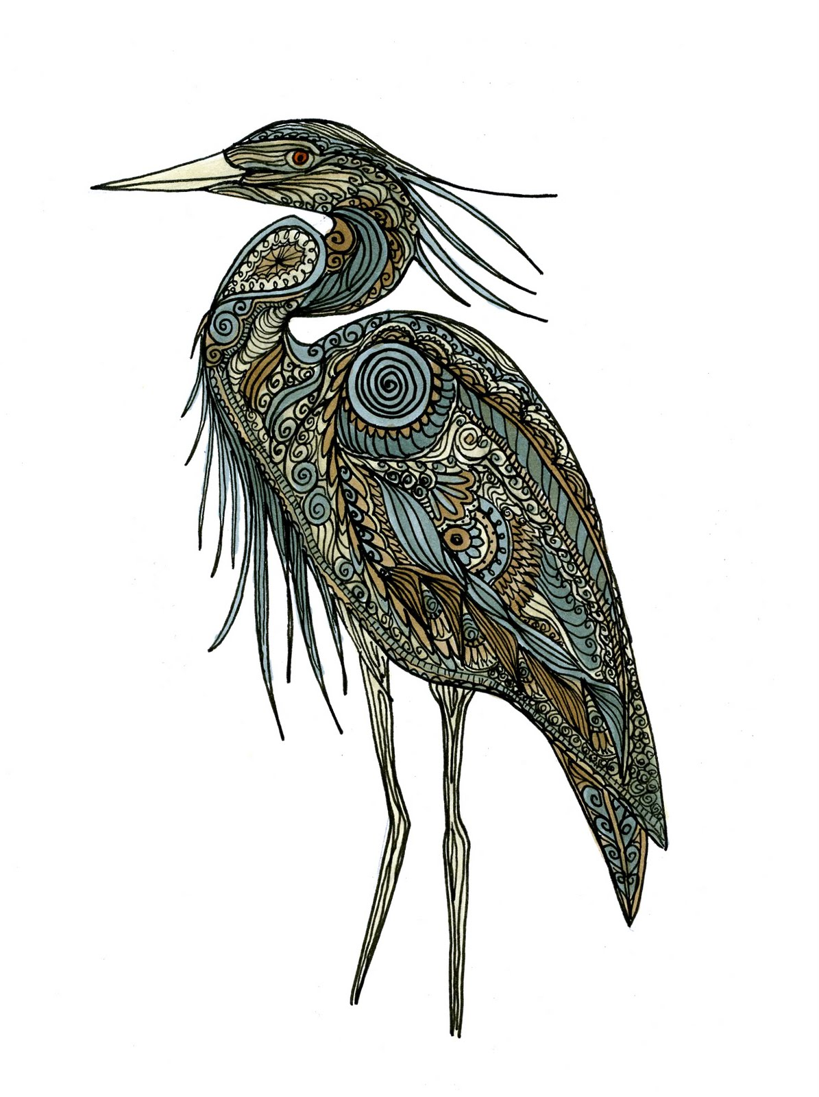 1195x1600 Heron Drawing Tattoo Sketches, Drawings And Tattoo