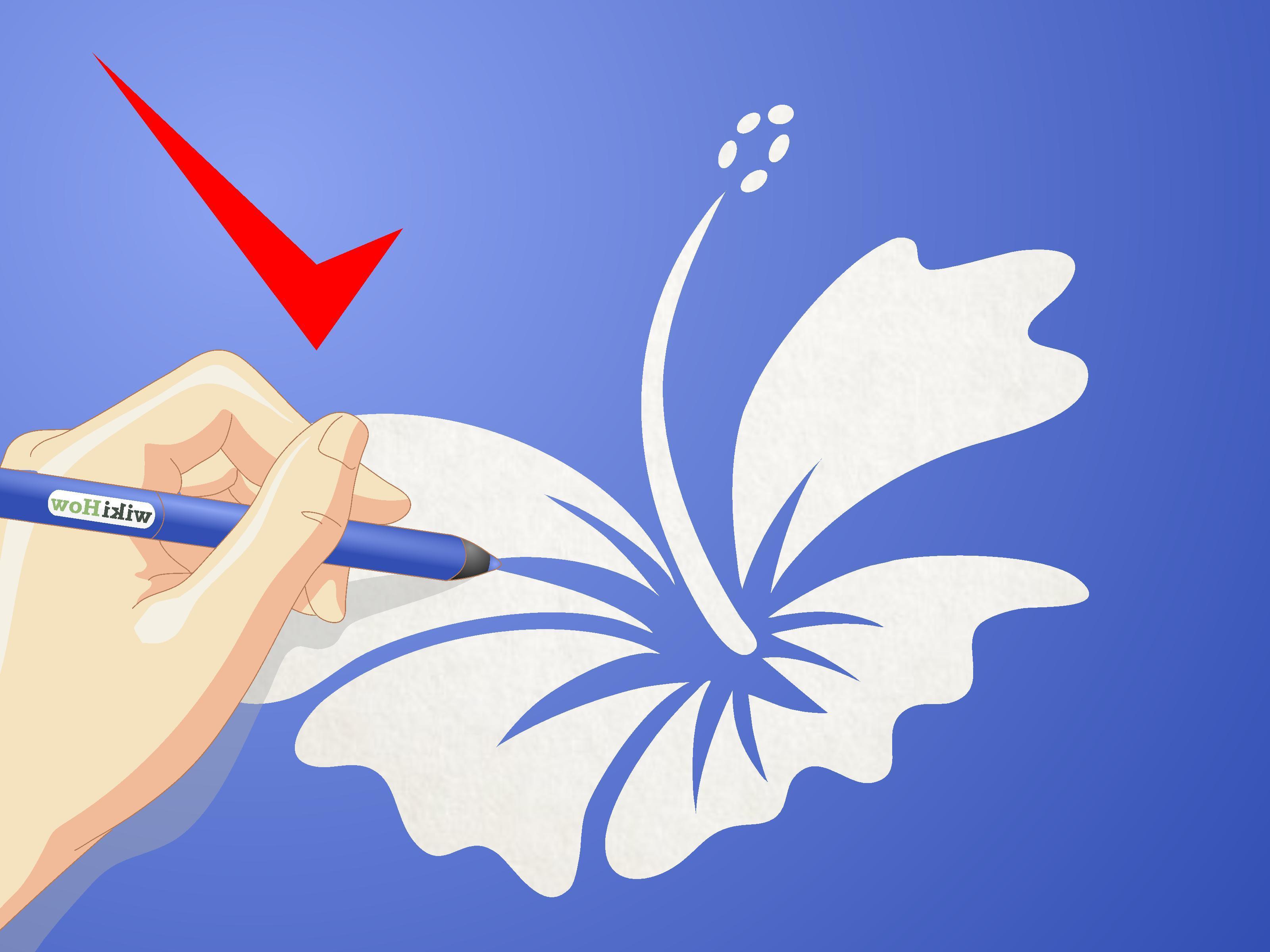 3200x2400 Best Draw Cartoon Hibiscus Flower Step Version Design