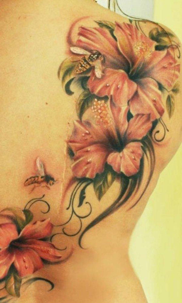 600x997 40 Magnificent Hibiscus Flower Tattoos Art And Design