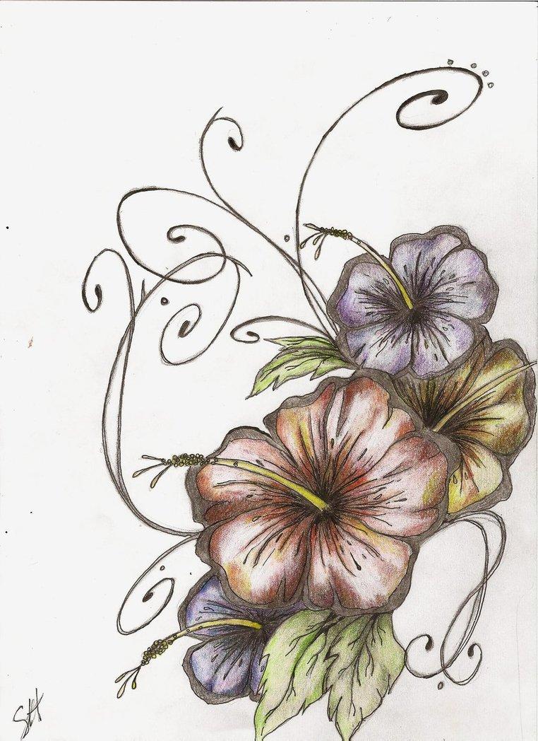 762x1048 Hibiscus Tattoo Nice Flowers Designs