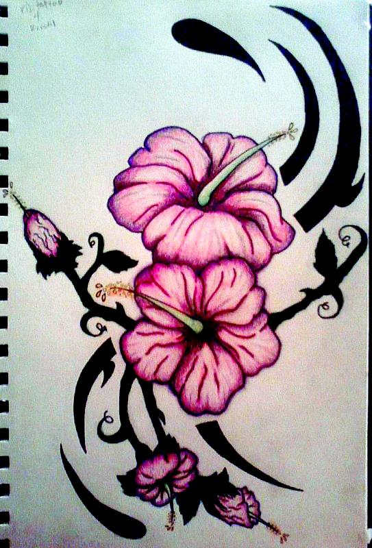543x800 Tribal Hibiscus By Kdlynn On Hibiscus Flower Tattoo