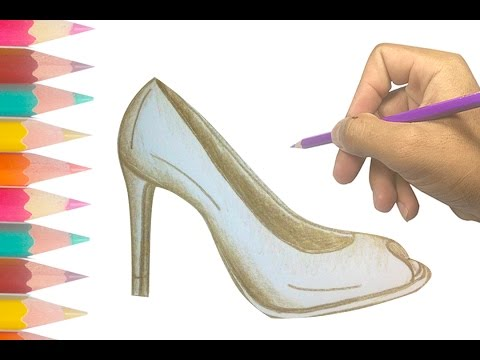 480x360 How To Draw A High Heel Shoe