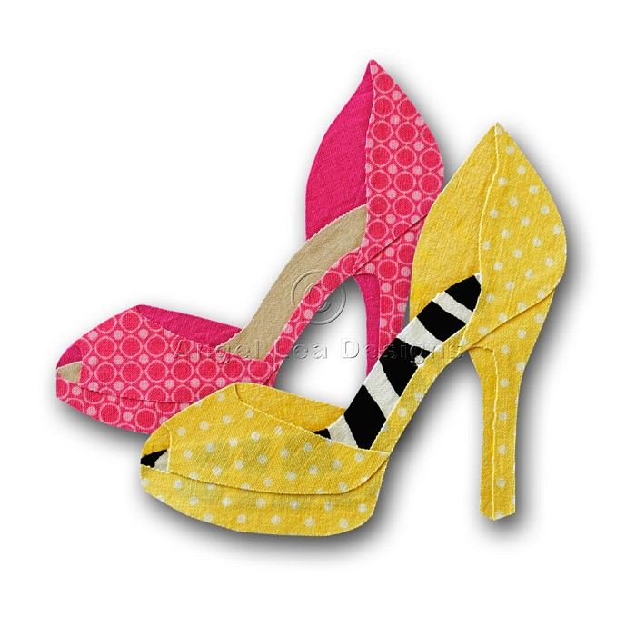 700x700 High Heel Shoe Applique Pattern Shoe Applique Template Pdf Angel
