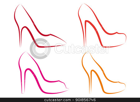 450x329 Images High Heel Shoe Drawing Template