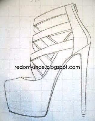 316x400 Sketches High Heels Shoes Sketch Stock Vector Gatina Kadriya