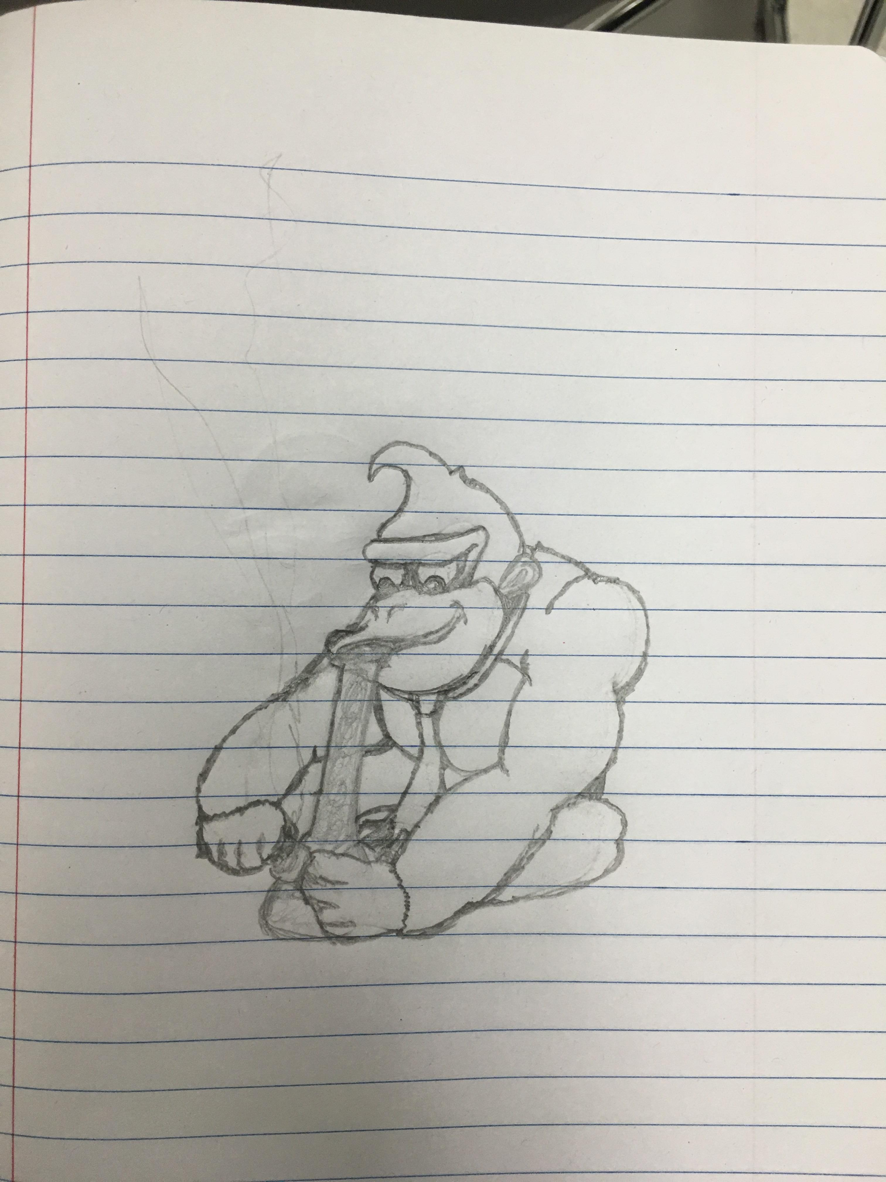 3024x4032 An Old High School Drawing. Donkey Bong. I'D Make A Shirt And Wear