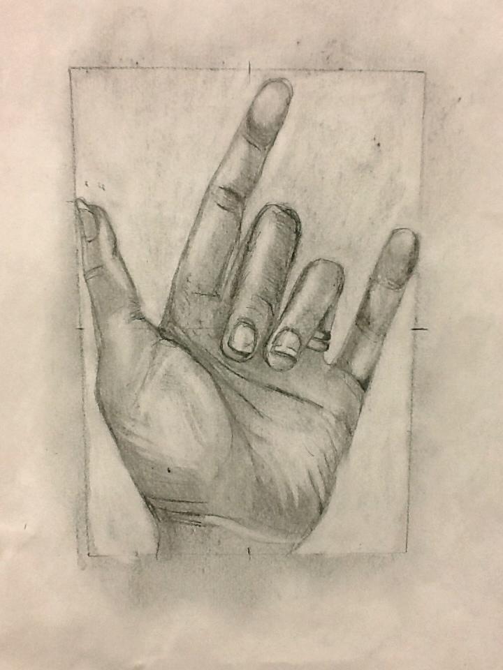 720x960 Hand Study For High School Drawing Class, By Sandy Blanc Sandy
