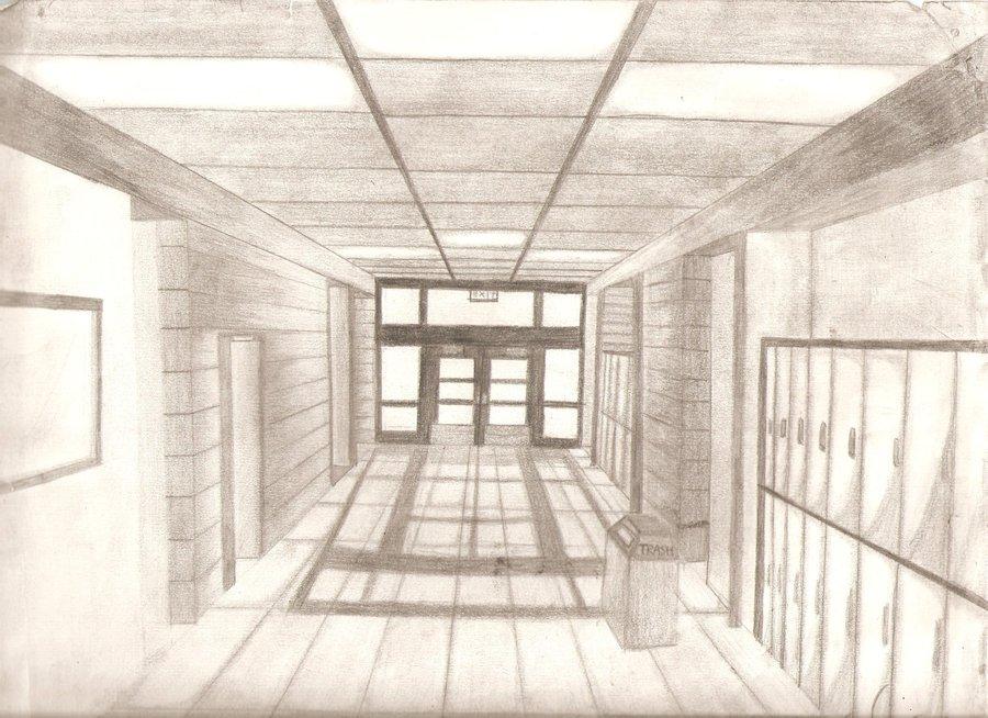 900x654 Jackson High School Hallway By Kway929
