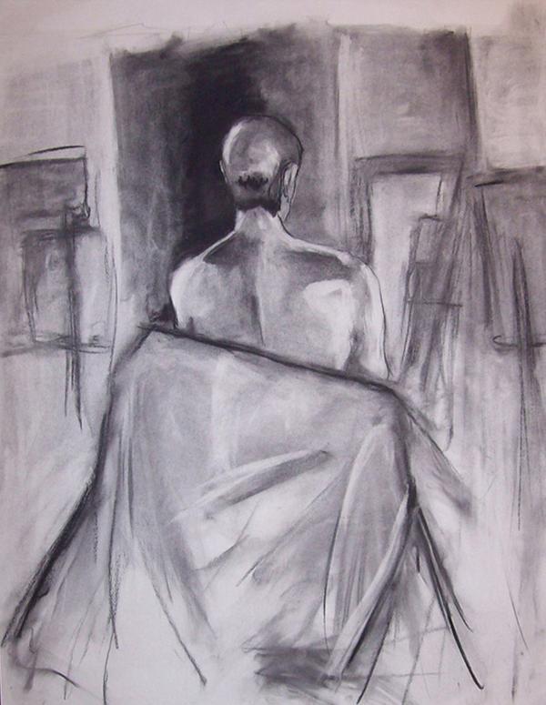 600x775 Jacob Leidolf Back [Charcoal Drawing]