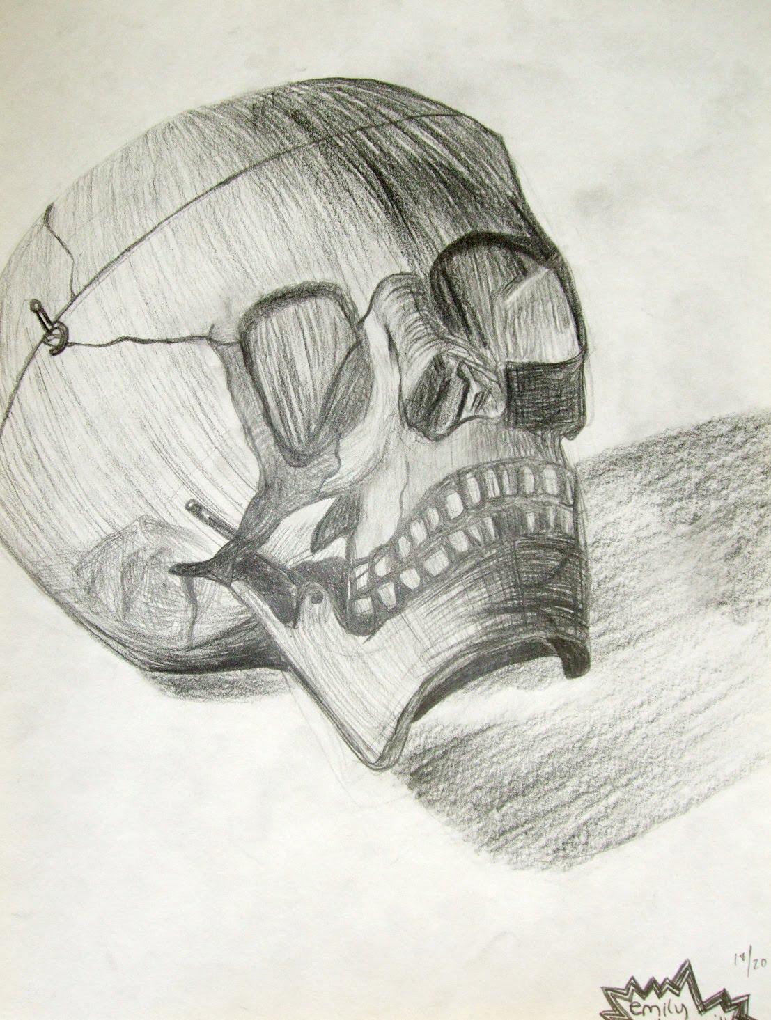 1107x1465 Highschoolart Skull Pencil Drawing High School Art