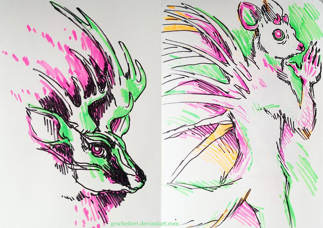 1064x751 Highlighter Drawings By Gescheitert