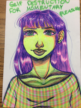 320x427 Highlighters And A Black Sharpie.
