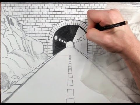 480x360 How To Draw A Highway Tunnel In One Point Perspective