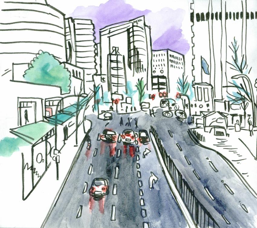 851x756 Urban Sketchers Australia Pacific Highway, North Sydney