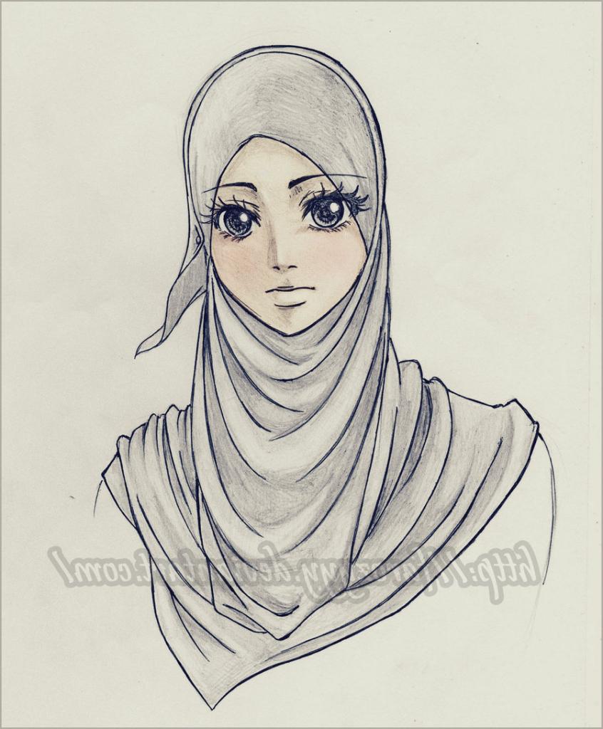 846x1024 Girl Wearing Hijab Drawing Drawings Of Girls Wearing Hijab Drawing