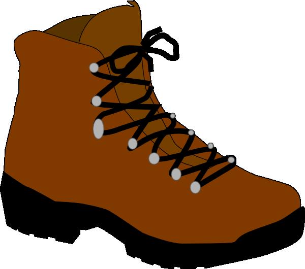 600x530 Hiking Boot Clip Art