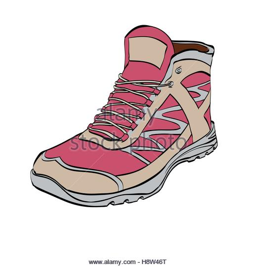 520x540 Hiking Boot Stock Vector Images