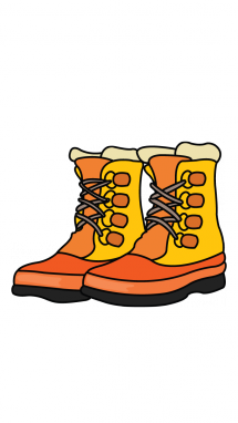 215x382 How To Draw A Hiking Boots, Easy Step By Step Drawing Tutorial