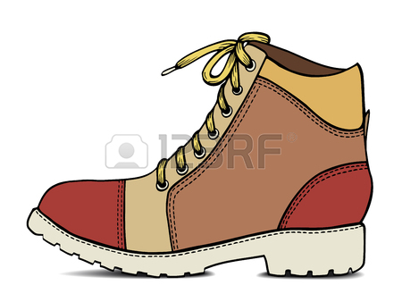 450x338 Line Drawing Of Shoes And Boots Stock Photos. Royalty Free