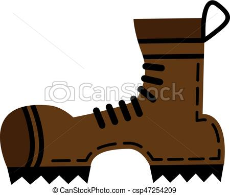 450x382 Flat Hiking Boots Vector Clipart
