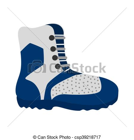 450x470 Hiking Boots Winter Vector Graphic Icon. Hiking Boot Shoes