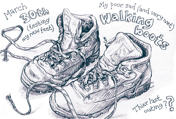 580x392 Poor Old Walking Boots Drawn Just After I Got In
