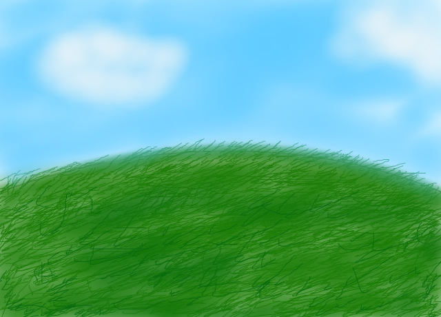 How To Color Grassy Background Sai
