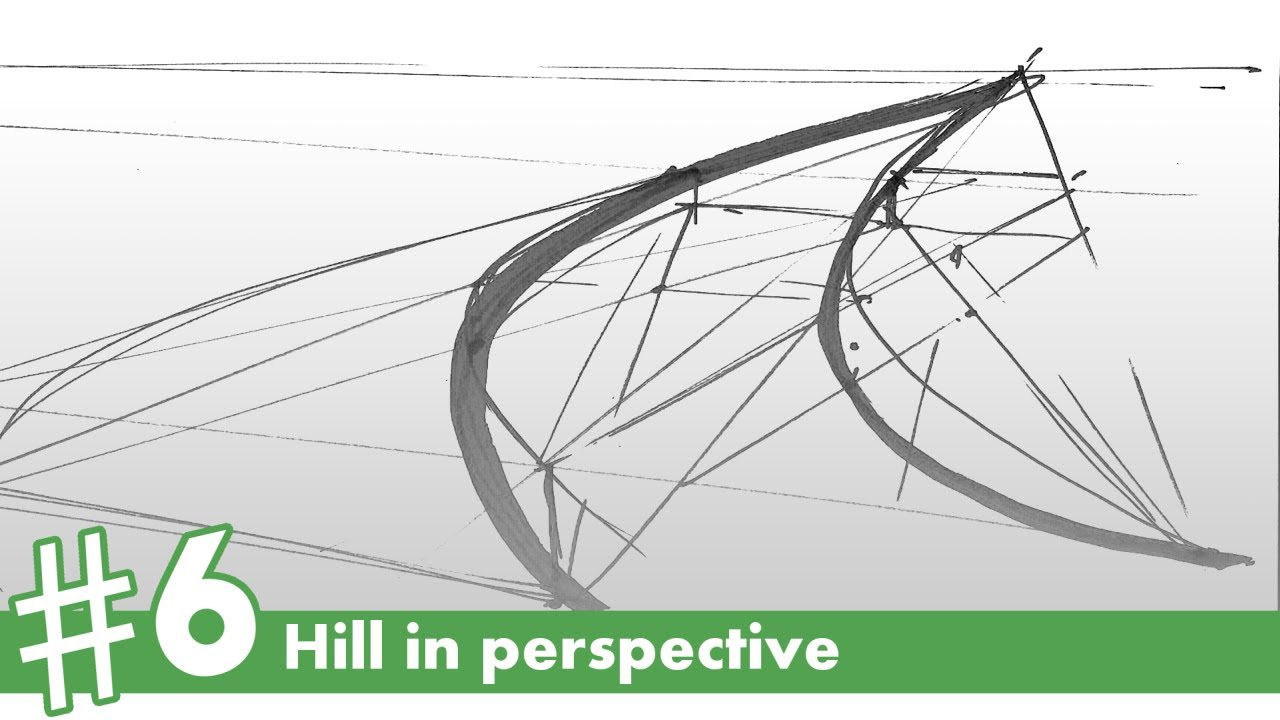 1280x720 Hill In Perspective Drawing