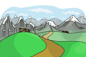 300x200 How To Draw Hills