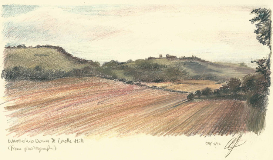900x528 Watership Down And Ladle Hill Drawing Pencil By Amandabates