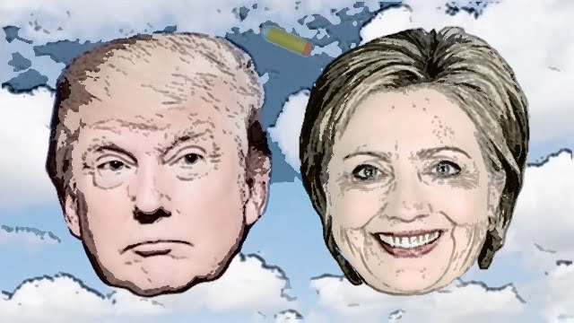 640x360 Donald Trump And Hillary Clinton Automatic Sketch Auto Draw