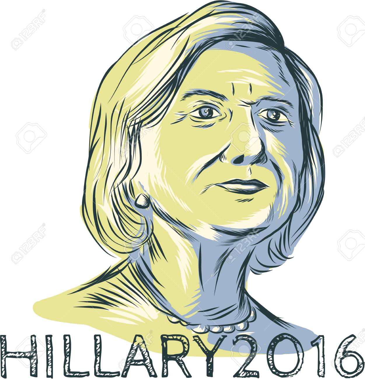 1251x1300 Drawing Sketch Style Illustration Showing Democrat Presidential
