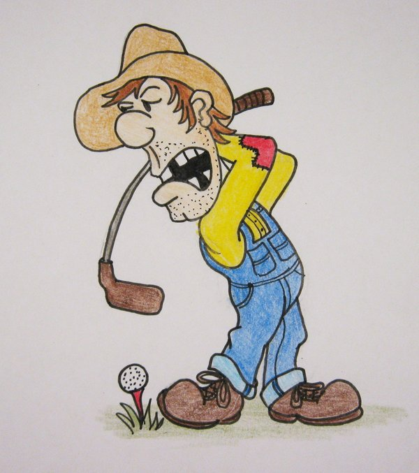 600x677 Hillbilly Golfer By Uncledave