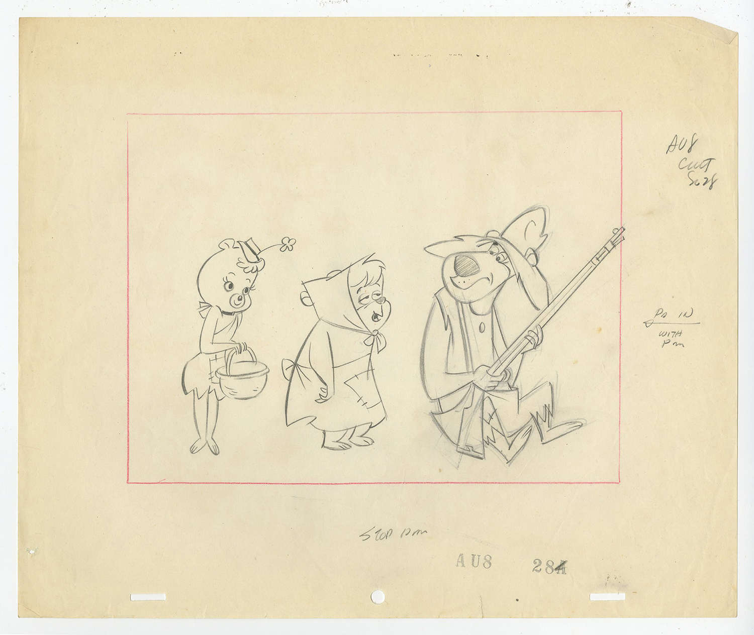 1500x1264 Hillbilly Bears Layout Drawing